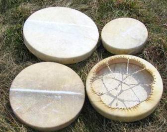 Šamanský buben s paličkou - průměr 40 cm (Šamanský buben s paličkou - průměr 40 cm)
