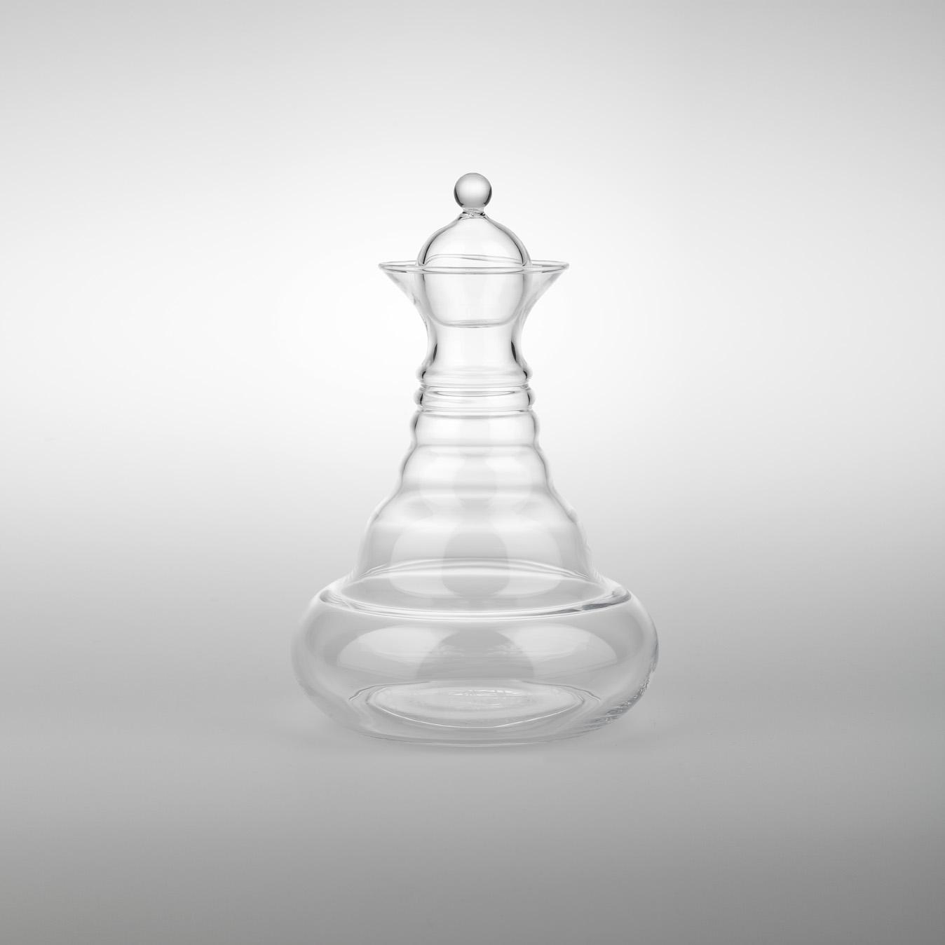 "Karafa Alladin White 1,3 litru - ""Květ života"" Revitalizační karafa na vodu (Karafa Kvet zivota - s bílým symbolem ""Květ života"" Revitalizační karafa na vodu)"