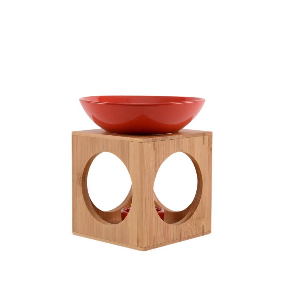 Aromalampa dřevěná červená ZAZEN (Aromalampa dřevěná červená ZAZEN)