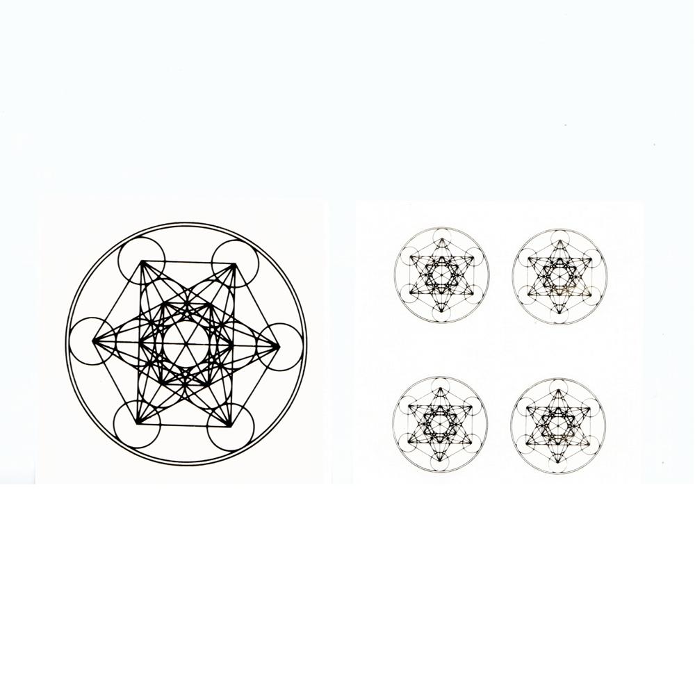 Samolepky Metatron zlaté set (Samolepky Metatron zlaté set 4+1)