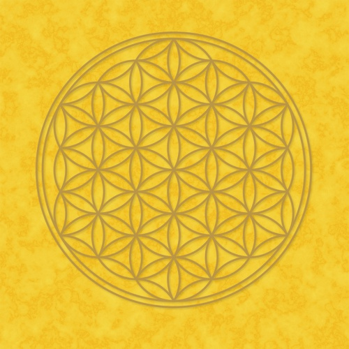 """Plakát Žlutý """"Květ Života"""" (Plakát Žlutý """"Květ Života"""")"""