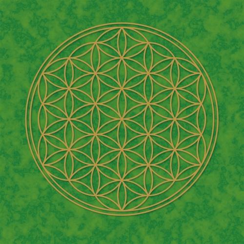 """Plakát Zelený """"Květ Života"""" (Plakát Zelený """"Květ Života"""")"""