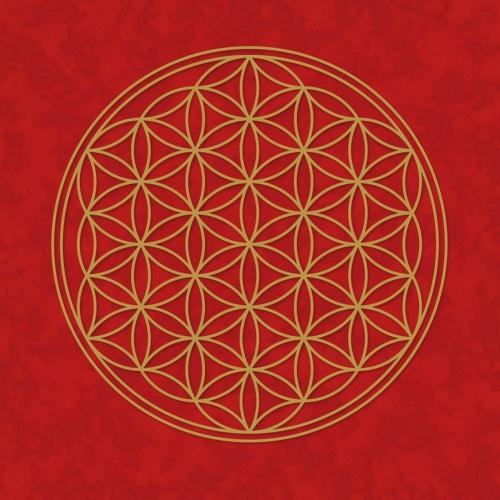 """Plakát Červený """"Květ Života"""" (Plakát Červený """"Květ Života"""")"""