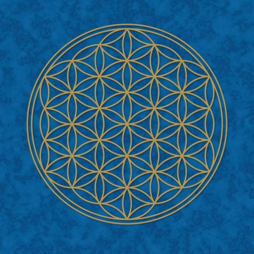"""Plakát Modrý """"Květ Života"""" (Plakát Modrý """"Květ Života"""")"""
