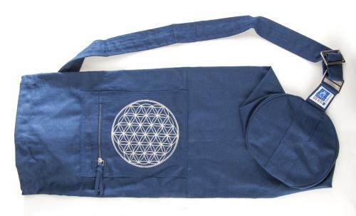 """Jóga taška """"Květ života"""" modrá (Jóga taška """"Květ života"""")"""