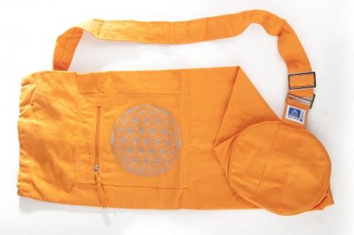 """Jóga taška """"Květ života"""" oranžová (Jóga taška """"Květ života"""" oranžová)"""