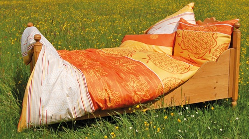 """Ložní prádlo """"Květ života"""" mangovožlutá (Ložní prádlo """"Květ života"""" )"""