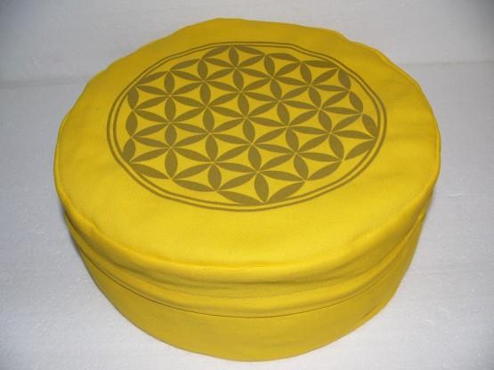 Květ života - Meditační polštář žlutý (Květ života - Meditační polštář žlutý)
