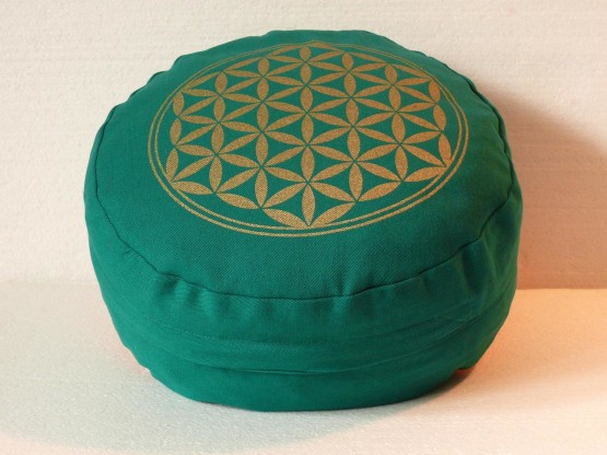 Květ života - Meditační polštář zelený (Květ života - Meditační polštář zelený)