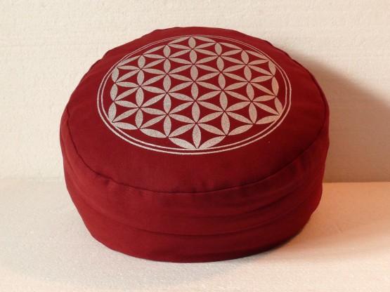 Květ života - Meditační polštář vínový (Květ života - Meditační polštář vínový)