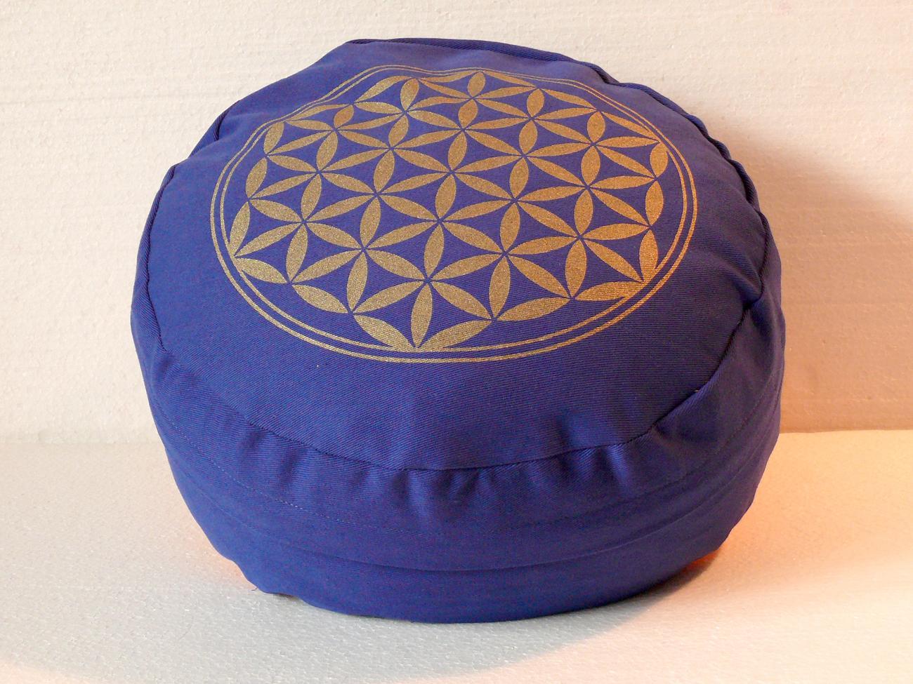 Květ života - Meditační polštář modrý (Květ života - Meditační polštář modrý)