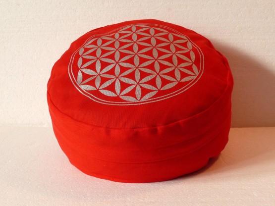 Květ života - Meditační polštář červený (Květ života - Meditační polštář červený)