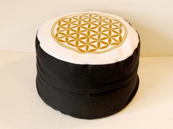 Květ života - Meditační polštář černobílý (Květ života - Meditační polštář černobílý)