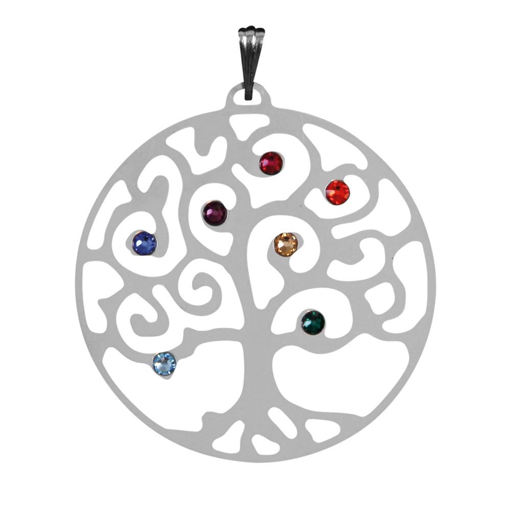 Přívěsek Strom Života Čakra se Swarovski krystaly (Přívěsek Strom Života Čakra se Swarovski krystaly)