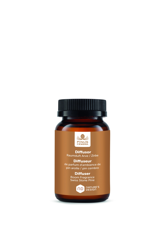 Lahvička s esenciálním olejem (15 ml) ze švýcarské - Pinus Cembra (Lahvička s esenciálním olejem ze švýcarské borovice(150ml) - Pinus Cembra - Švýcarská borovice)