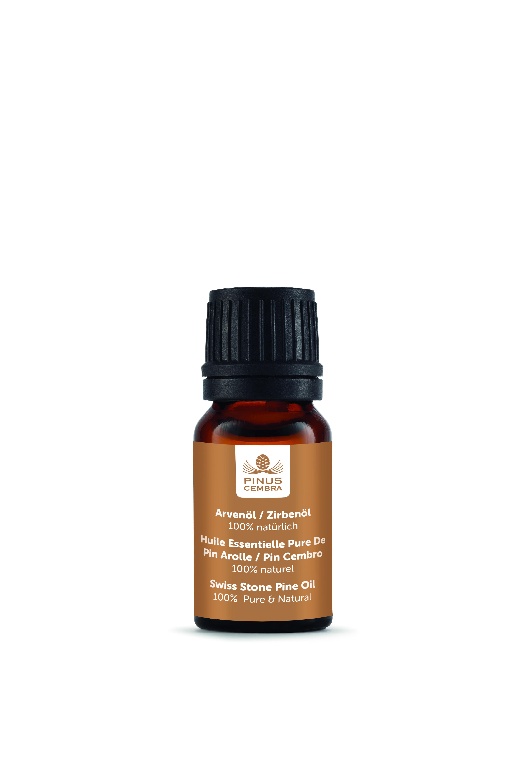Lahvička s esenciálním olejem (10 ml) ze švýcarské - Pinus Cembra (Lahvička s esenciálním olejem ze švýcarské borovice(10 ml) - Pinus Cembra - Švýcarská borovice)