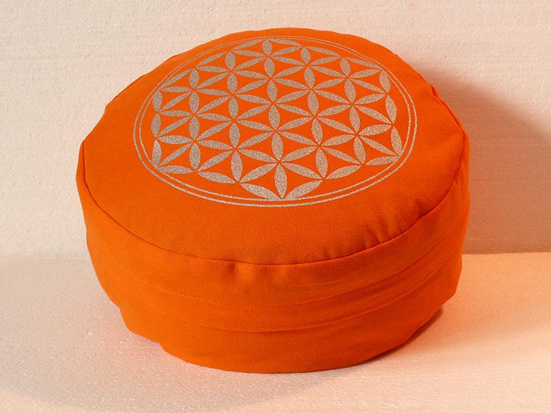 Květ života - Meditační polštář oranžový (Květ života - Meditační polštář oranžový)